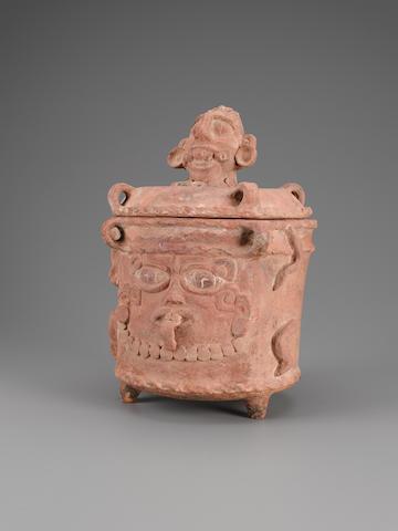 Maya Lidded Circular Vessel height 13 1/4in (33.7cm)
