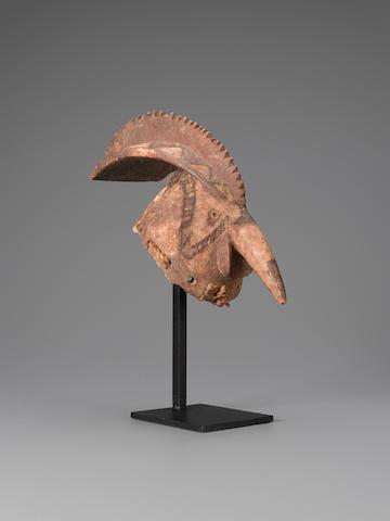 Mossi Bird Mask, Burkina Faso length 12 3/4in (32.5cm)