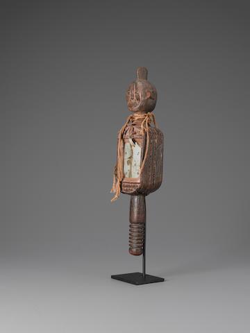 Igala Janus Mirror, Nigeria height 16 1/2in (42cm)