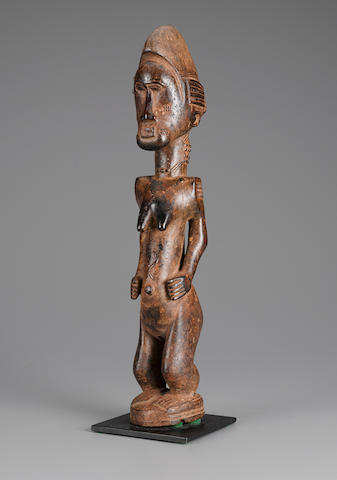 Baule Female Figure, Ivory Coast height 18 3/4in (47.6cm)