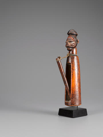Yaka Slit Clapper, Democratic Republic of the Congo height 14 1/4in (38.3cm)