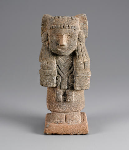 Aztec Stone Goddess with the Tasseled Headdress, known as Chalchiuhtlicue, ca. A.D. 1400 - 1521 height 11 3/4in (29.8cm)