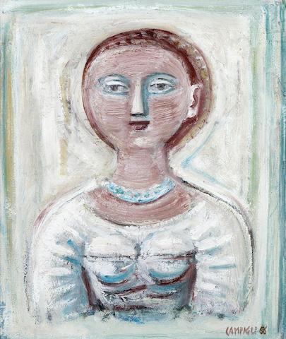 MASSIMO CAMPIGLI (1895-1971) Signora 22 1/4 x 18 9/16in. (56.5 x 47.2cm)