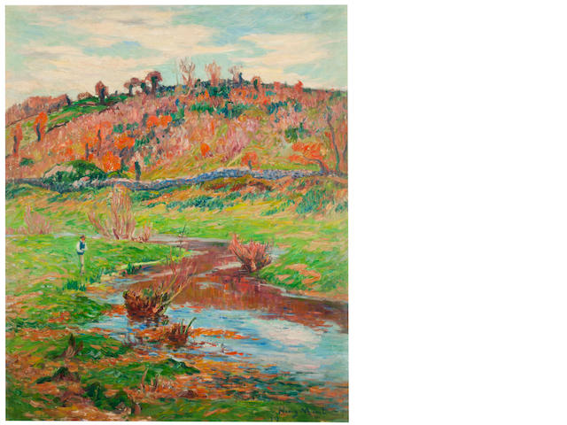 HENRY MORET (1856-1913) Paysage à Pont-Aven 29 1/2 x 24 1/4in. (74.9 x 61.6cm) Painted in 1907
