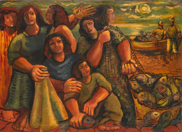 EMILIANO DI CAVALCANTI (1897-1976) Pescadores, 1948