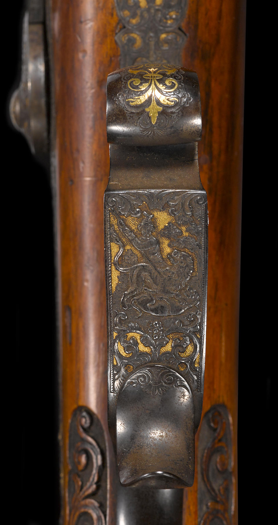 A fine German percussion rifle by W. Pfeuffer of Stuttgart -Select US Arms Type-