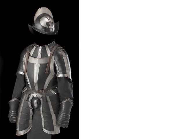 A German black and white half-suit of armor