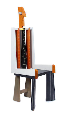 An Alan Siegel wood chair