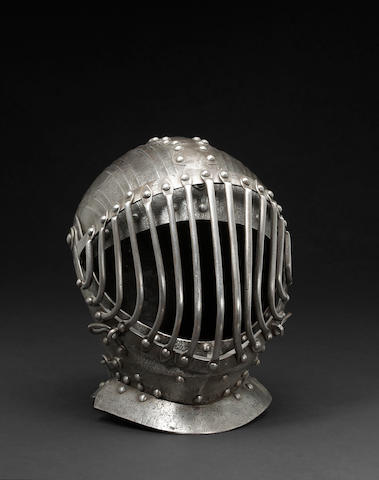 A barred close helmet for the Pisan Giacco del Ponte