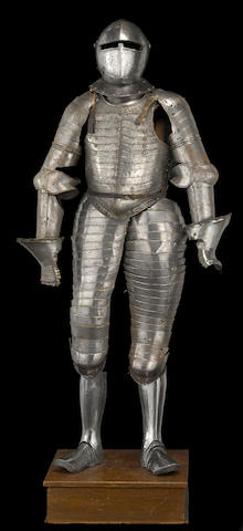 A rare suit of Italian cuirassier's anime armor, comprehensively mid-16th century
