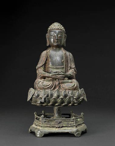 A lacquered bronze figure of Buddha Ming dynasty