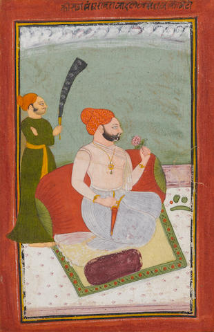 Four Indian paintings of rajas