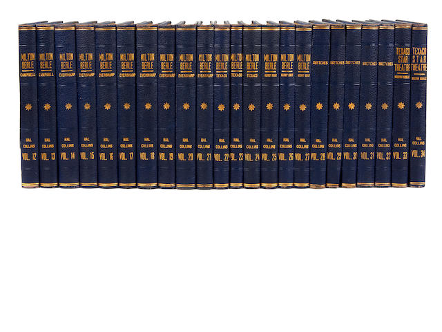 An extensive set of working copies of Milton Berle radio and television scripts, custom bound for writer Hal Collins