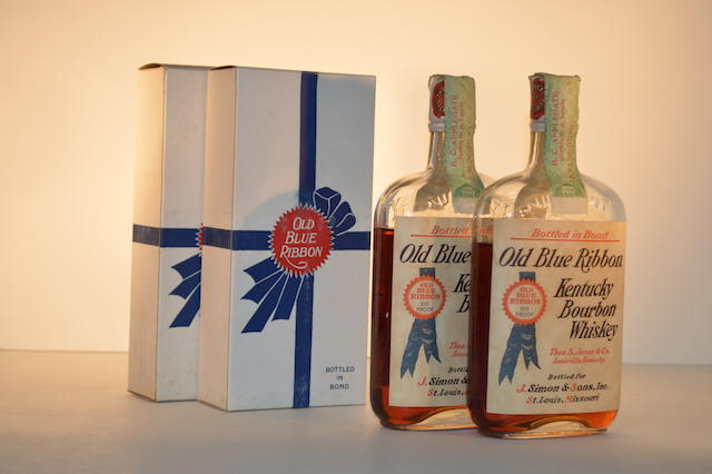 Old Blue Ribbon Kentucky Bourbon Whiskey (2)