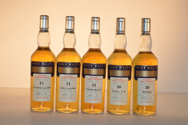 Glendullan 1973-23 years old (1)   Teaninich 1972-23 years old (1)   Caol Ila 1975-20 years old (1)   Brora 1975-20 years old (1)   Dailuaine 1973-22 years old (1)