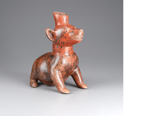 Colima Seated Dog<BR />Protoclassic, ca. 100 B.C. - A.D. 250 height 10 1/4in (26cm)