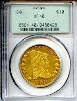1801 $10 XF40 PCGS