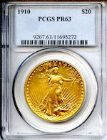 1910 $20 Proof 63 PCGS
