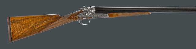 A cased .410 gauge Abbiatico & Salvinelli Rondo Quatrocanne four barrel hammer gun