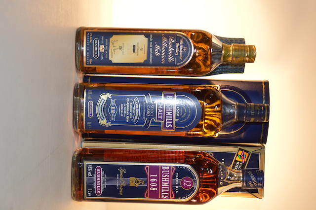 Bushmills Distillery Millennium 1975 (1)   Bushmills Select Cask 12 years old (1)   Bushmills 1608 Special Reserve 12 years old (1)