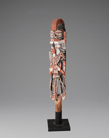 Malagan Figure, New Ireland height 46 1/2in (118cm)