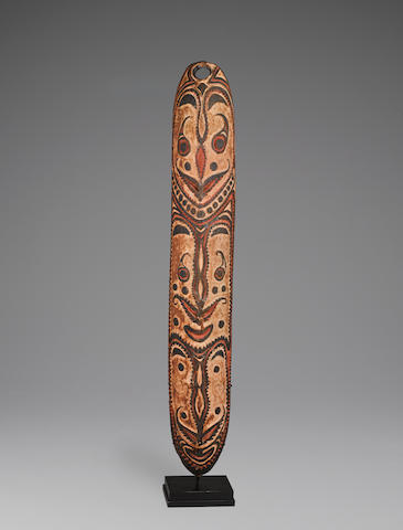 Shield, East Sepik Province, Papua New Guinea height 50in (127cm)