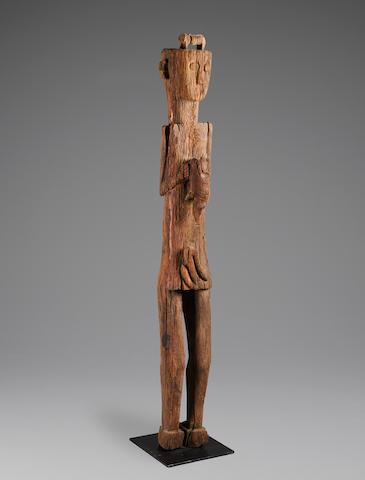 Dayak Ancestral Guardian Figure, Kalimantan, Borneo Island