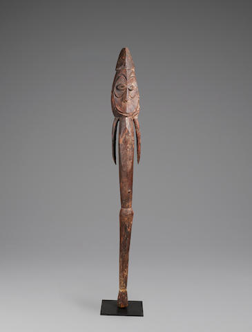 Figure, Komininmung People, Ramu River, Papua New Guinea height 48 3/4in (124cm)