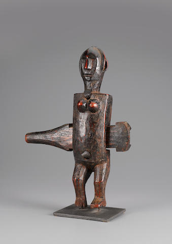 Bamana Figurative Doorlock, Mali height 16in (40.7cm)