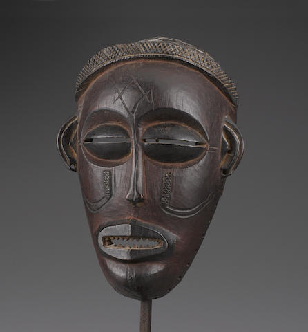 Chokwe Mask, Angola height 9 3/8in (23.8cm)