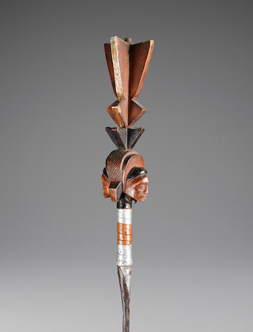 Lunda-Luba Royal Scepter, Democratic Republic of the Congo height 55 1/2in (141cm)