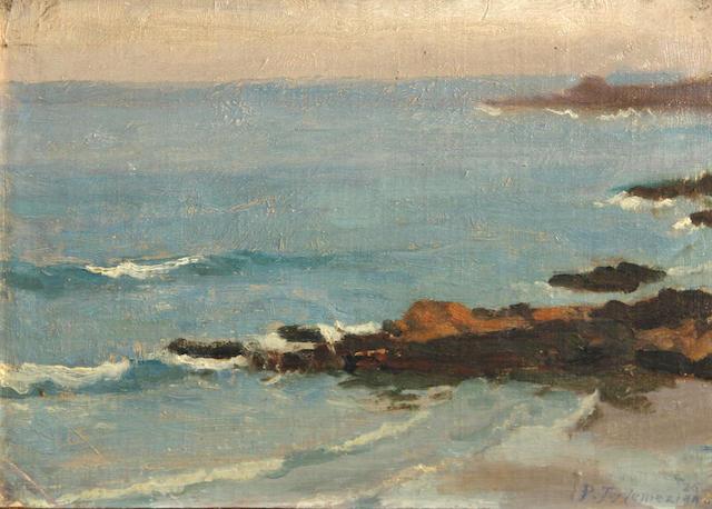 Panos Terlemezian (Armenian, 1865-1941) California coastal view, 1926 9 x 12in