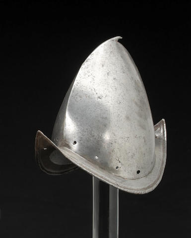A Spanish, or peaked, morion