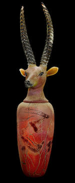 William Morris (American, born 1957) Canopic Jar: Sable Antelope, 1995