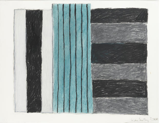 Sean Scully (Irish, born 1946) Untitled 23 x 30 1/4in Executed in 1984