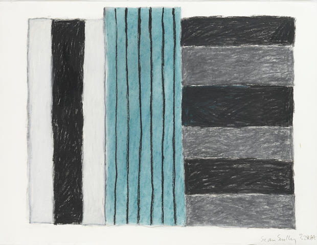 Sean Scully (Irish, born 1946) Untitled 58.4 x 76.7 cm. (23 x 30 1/4 in.) Executed in 1984