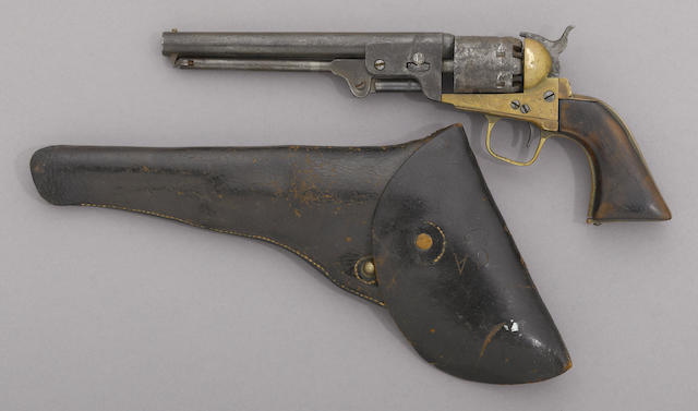 A composite percussion revolver in the style of Griswold & Gunnison -Select US Arms Type-