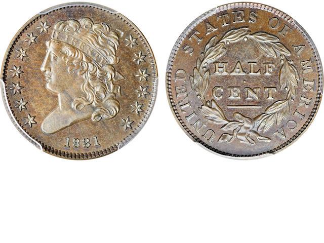 1831 Res 1/2C PR66BN PCGS