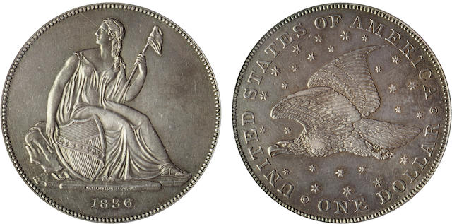 1836 S$1 PR55 PCGS