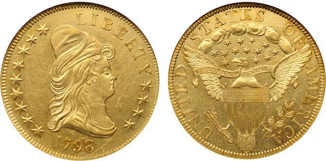 1798/7 Stars 9x4 $10 MS61 NGC