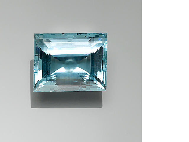 Beryl var. Aquamarine, 55.93 ct.(To be tested by AGL)