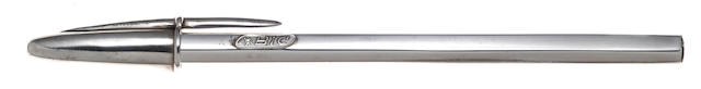 BIC: Crystal Sterling Silver Ballpoint Pen