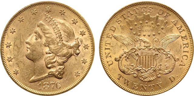 1876-S $20 MS61 PCGS