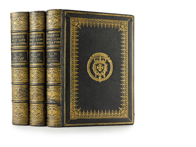 ROBERTS. Holy Land, Egypt & Nubia. Deluxe publisher's binding. ROBERTS, DAVID. 1796-1864. The Holy Land, Syria, Idumea, Arabia, Egypt & Nubia. London: Day & Son, 1855-1856.