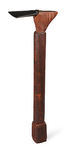 Large Ceremonial Hafted Adze, Mangaia, Cook Islands length 32 3/4in (83.3cm)