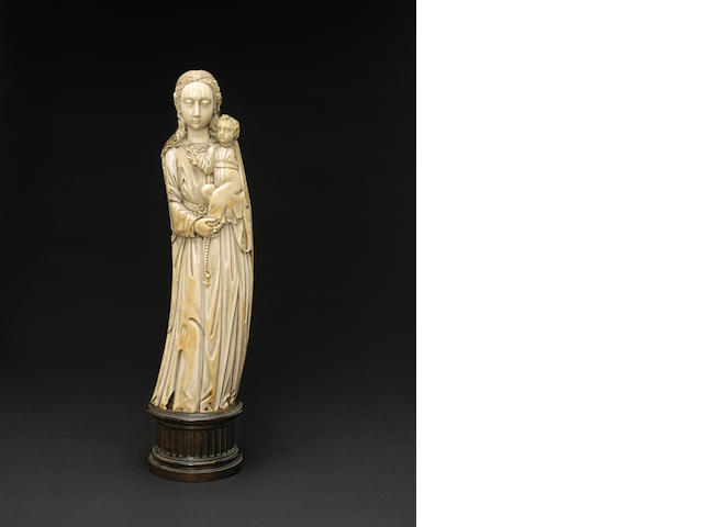 An ivory carving of The Virgin and Child Philippines, early 17th century