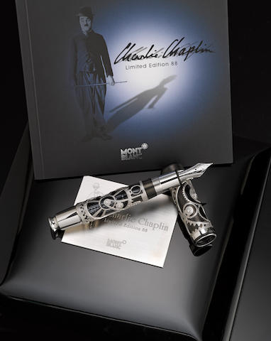 MONTBLANC: Charlie Chaplin Skeleton Limited Edition 88 Fountain Pen