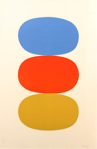 Ellsworth Kelly (American, born 1923); Blue and Orange and Green;