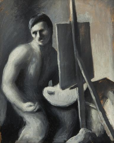 Thomas Hart Benton (American, 1889-1975) Self-Portrait 11 x 9 1/4in, image