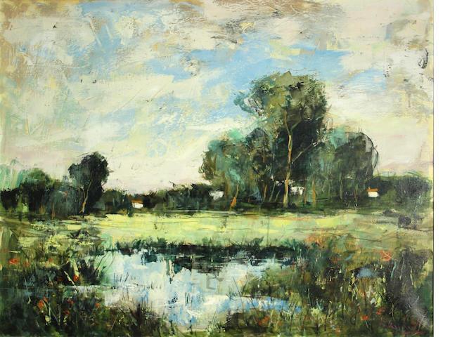 Taubert Bertoldo (French, 1915-1974) Untitled, 1972  28 1/2 x 36in
